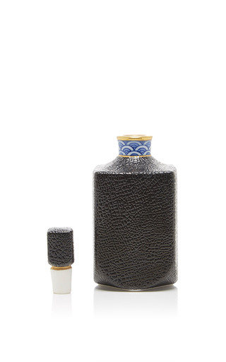 Medium hataman black cuir design perfume bottle