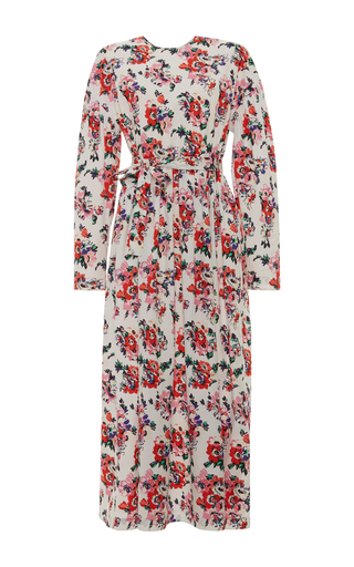 Medium msgm floral msgm long sleeve floral maxi dress
