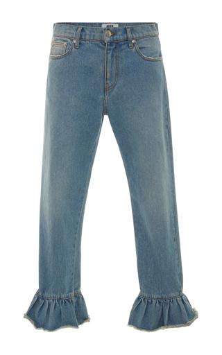 Medium msgm light wash msgm ruffle hem jeans