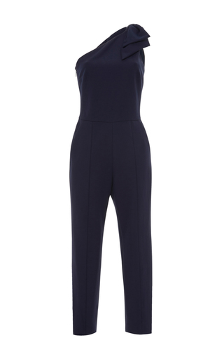 Medium msgm navy msgm one shoulder jumpsuit