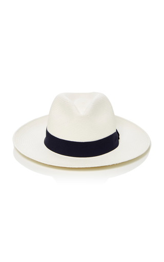 Medium frescobol carioca navy straw panama hat