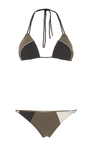 Medium zeus dione khaki andro two piece bikini set