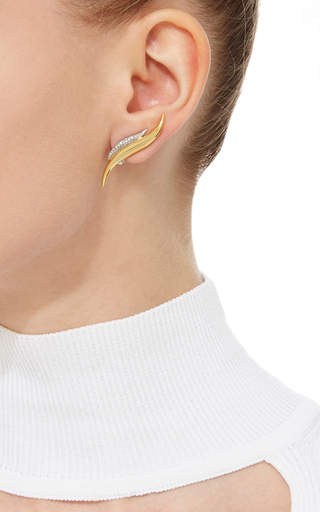Golda Double S Diamond Earring by AS29 for Preorder on Moda Operandi