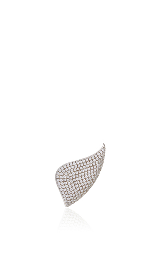 Golda Lobe Diamond Earring by AS29 for Preorder on Moda Operandi