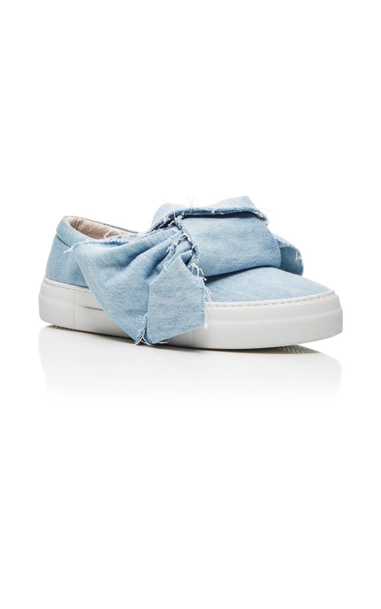 Azure Denim Bow Sneakers