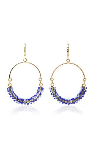 Medium isabel marant navy gold tone resin earrings