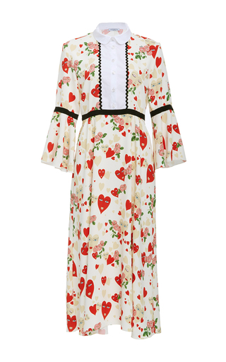 Medium vivetta print heart print midi dress