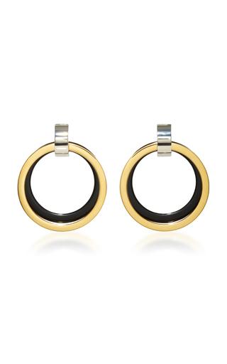Medium marni black black and gold hoop earrings