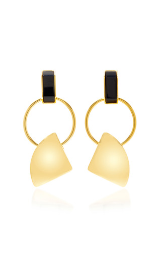 Medium marni gold gold tone clip earrings