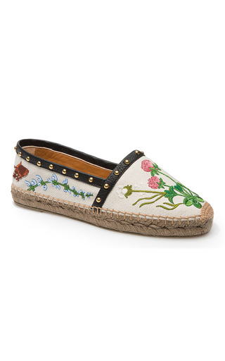 Medium bally ivory estela espadrille