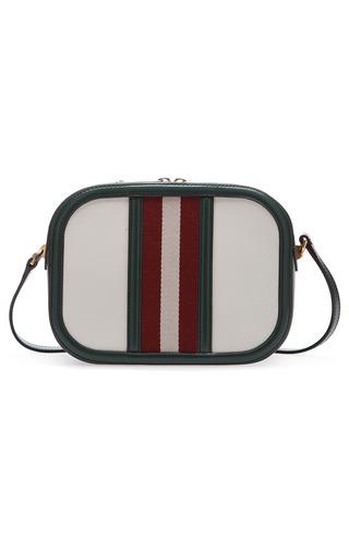 Medium bally ivory tipsy stripe shoulder bag