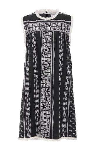 Medium sea multi yarn dye sleeveless dress
