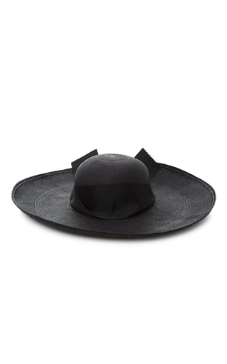 Medium sensi studio black maxi bow lady ibiza hat