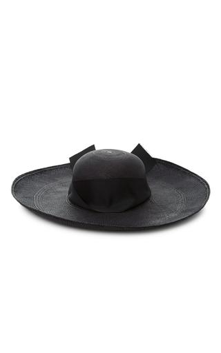 Medium sensi studio black maxi bow lady ibiza hat