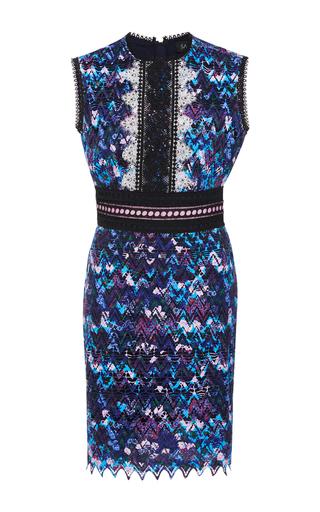 Medium saloni purple trudi sleeveless mini dress