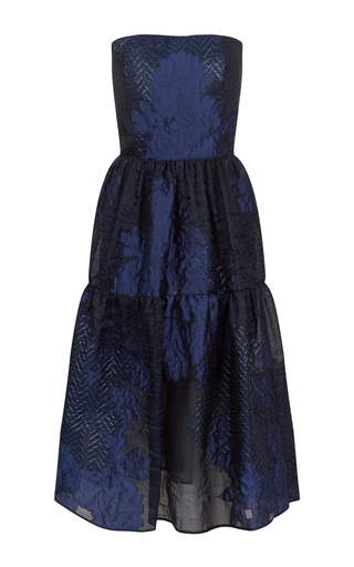 Medium malene oddershede bach blue sylvan strapless a line dress