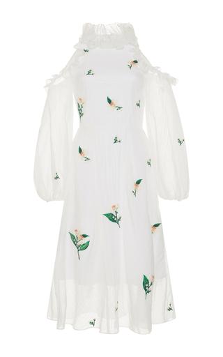 Medium zayan the label white safia cold shoulder dress