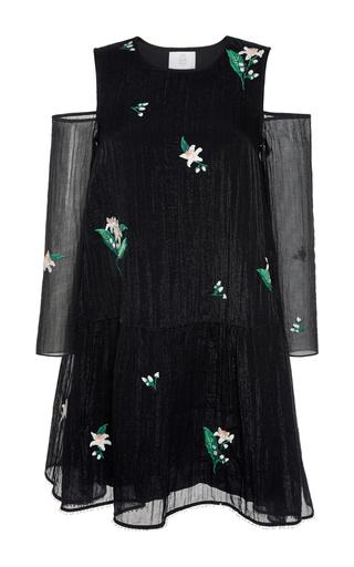 Medium zayan the label black joney cold shoulder dress