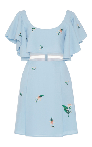 Medium zayan the label light blue shereen scoop neck dress
