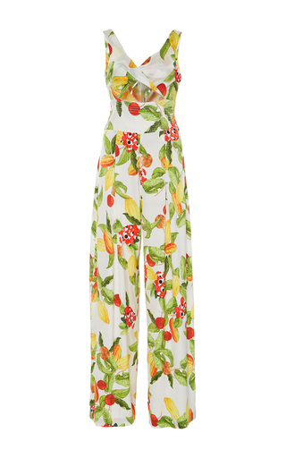 Medium isolda print betania wide leg cutout jumpsuit