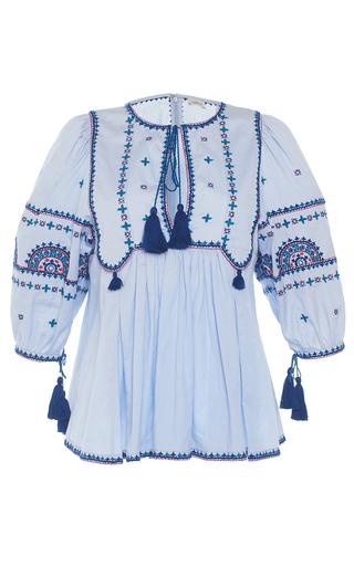 Medium talitha light blue blue indian peasant top