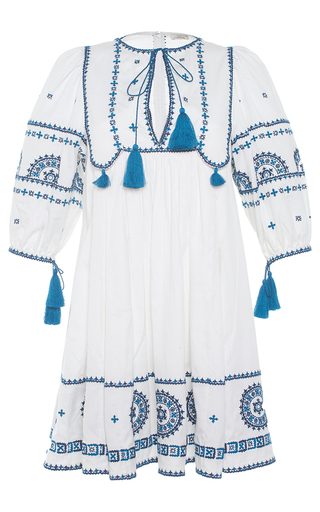 Medium talitha white embroidered indian peasant dress
