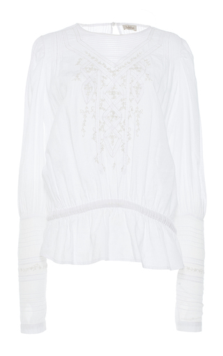 Medium talitha white lace insert victorian blouse