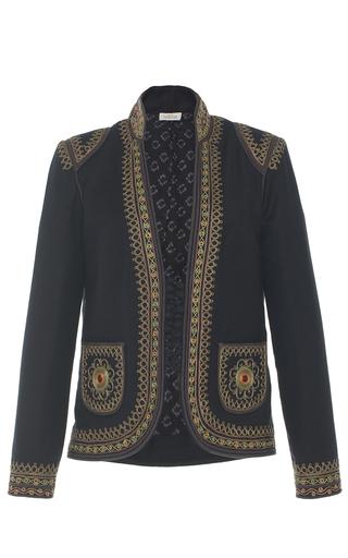 Medium talitha black folk embroidered jacket