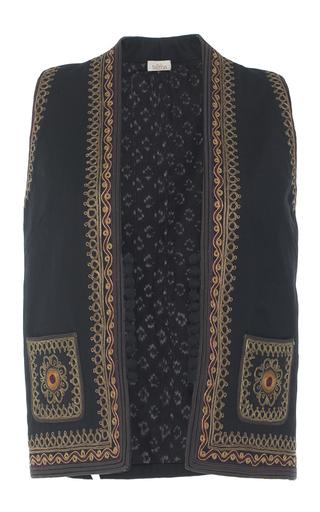 Medium talitha black folk embroidered waistcoat