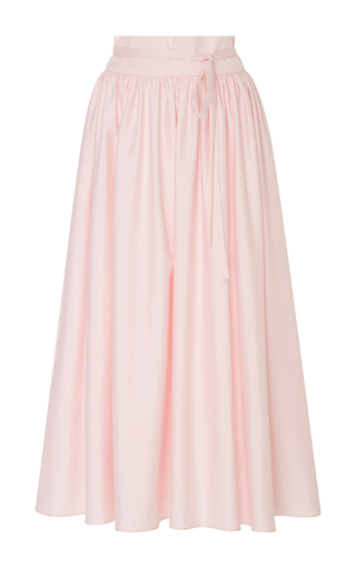 Medium mds stripes pink high waist peasant skirt