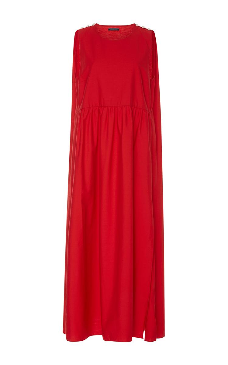 Cape Midi Dress