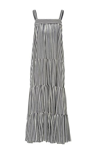Medium mds stripes stripe wyatt tiered cami dress