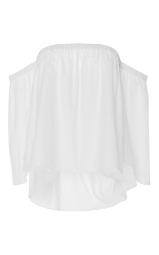 Medium mds stripes white off the shoulder peasant top