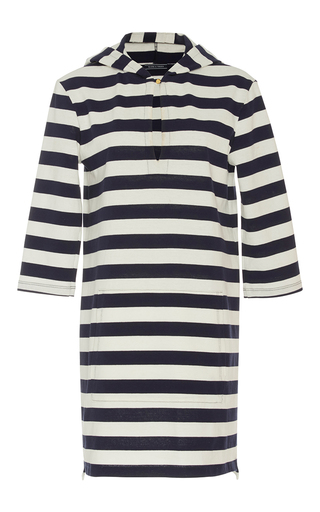 Medium mds stripes stripe rebecca hooded dress
