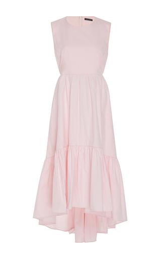 Medium mds stripes pink long back ruffle dress