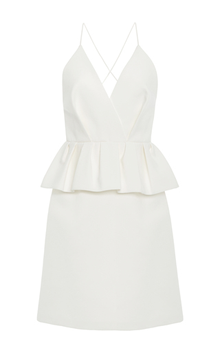 Medium delpozo white peplum mini dress