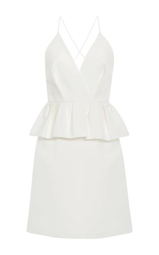 Medium delpozo white peplum mini dress