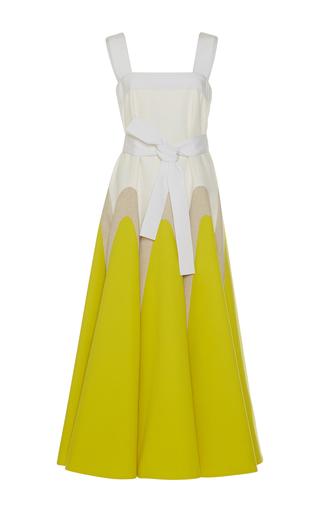 Medium delpozo yellow belted midi dress