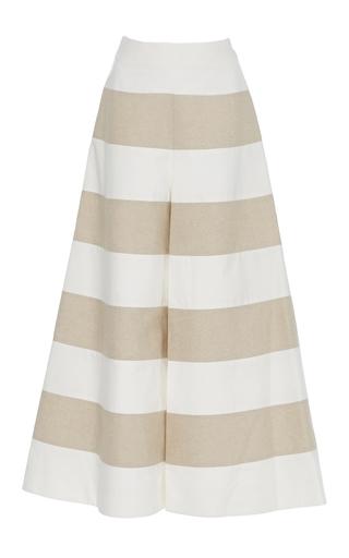 Medium delpozo white striped wide leg trousers
