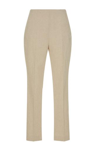 Medium delpozo tan high waist crop trousers