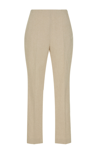 Medium delpozo tan high waist crop trousers