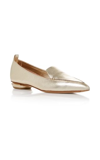 Medium nicholas kirkwood gold beya loafer