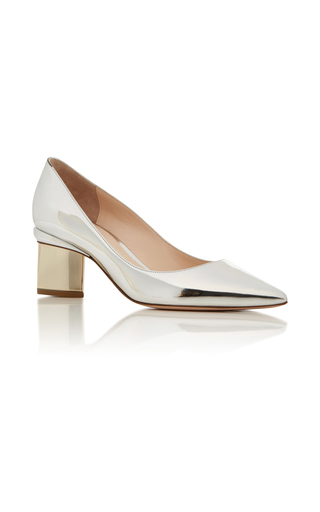 Medium nicholas kirkwood silver prism metallic pump
