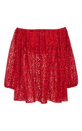 Medium merlette red the margherite blouse 2
