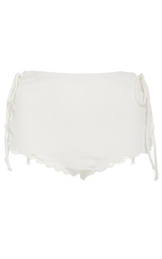Medium marysia swim white palm springs tie bikini bottom