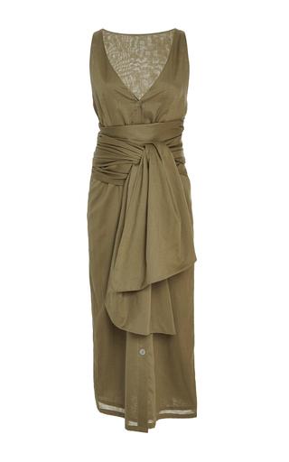 Medium marysia swim green emerald wrap bay dress