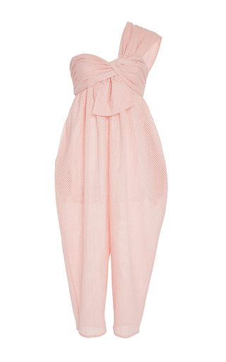 Medium marysia swim light pink venice one shoulder jumpsuit