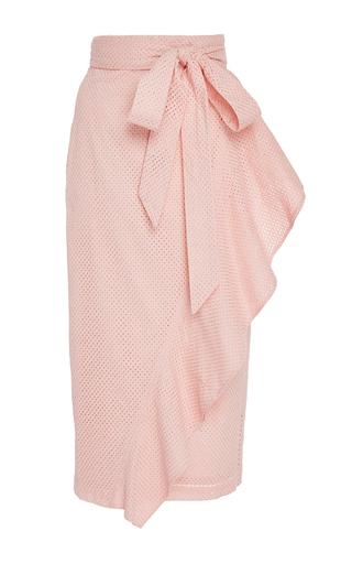 Medium marysia swim pink rose seahaven asymmetric ruffle skirt