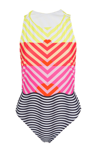 Medium salinas multi striped horizon one piece