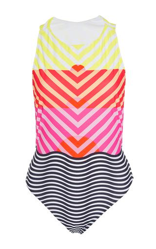 Medium salinas multi striped horizon one piece